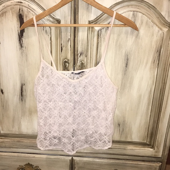 American Eagle Outfitters Tops - Lace tank top